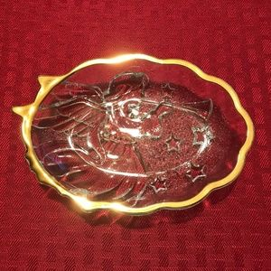 Gold Trimmed Angel Dish